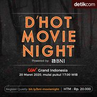 Nonton Hemat Cuma Rp 20 Ribu, Ikutan BNI d'Hot Movie Night Yuk!