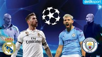 Susunan Pemain Real Madrid vs Manchester City