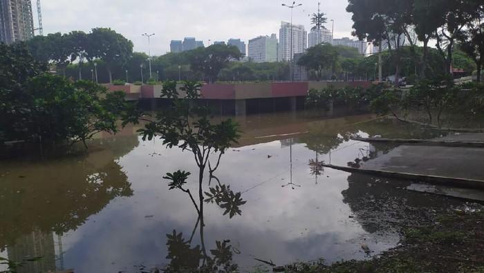 Underpass Kemayoran Terkini (26/2) pukul 08.00 WIB