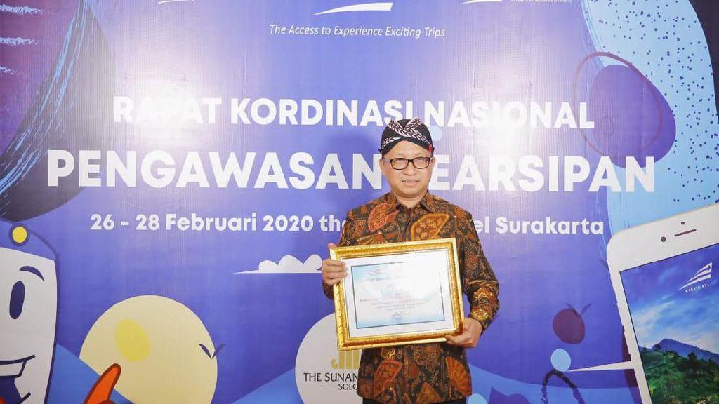 Kemendes PDTT Sabet Penghargaan Pengawasan Pengarsipan dari ANRI