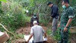 Kerangka Manusia di Hutan Pinus Pemalang Dimakamkan
