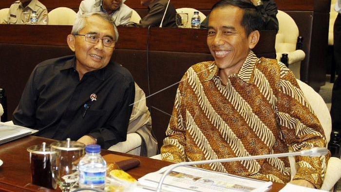 Gubernur DKI Jokowi dalam rapat bahas banjir di DPR (Dok. Widodo Jusuf/ANTARA FOTO)