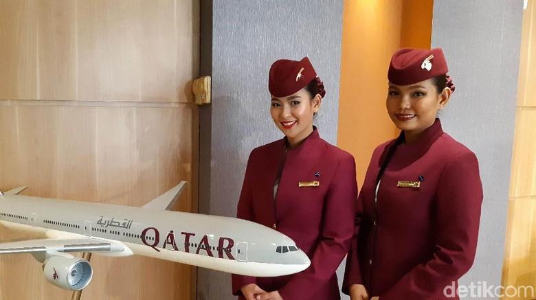 Qatar Airways meluncurkan menu baru untuk penerbangan ekonomi, Rabu (26/2/2020)