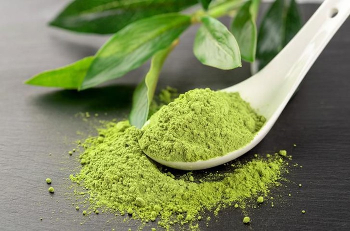 Matcha tea and green tea utensils