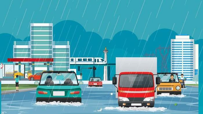 jakarta banjir ekonomi lumpuh