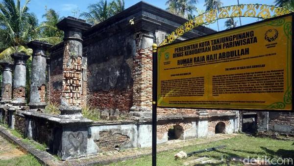 Ada juga situs Rumah Raja Haji Abdullah yang memprakarsai pembangunan Masjid Raya Sultan Riau. (Wahyu Setyo/detikTravel)