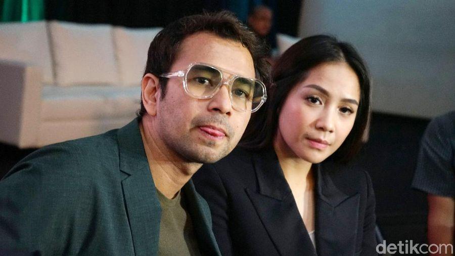 Raffi Ahmad dan Nagita Slavina saat ditemui di kawasan Gatot Subroto.