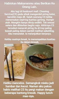 Lewat Kisah Haru, Netizen Ini Ajak Foodies Habiskan Makanan