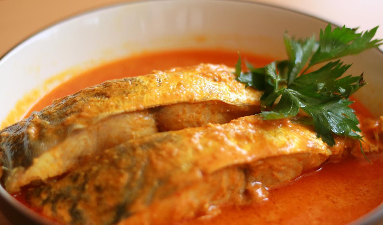 Gulai gouramis. Type of food containing rich, spicy and succulent curry.
