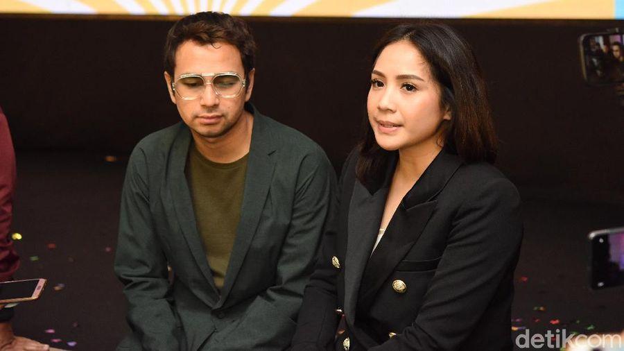 Raffi Ahmad dan Nagita Slavina saat dijumpai di kawasan Gatot Subroto.