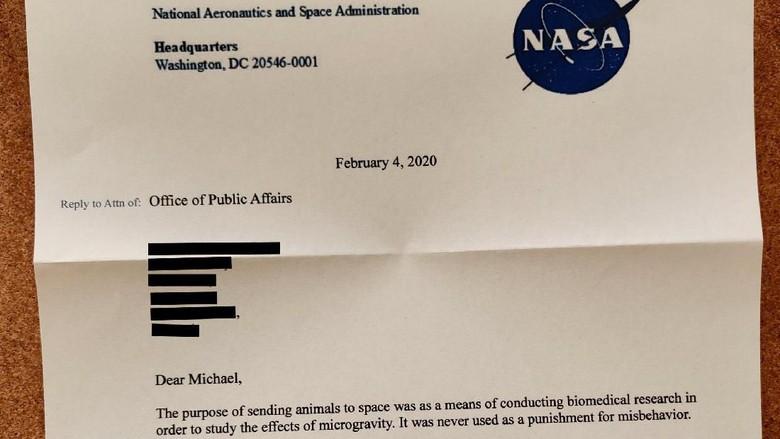 surat untuk NASA