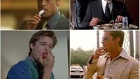 Gantengnya Awet! 10 Potret Adegan Makan Brad Pitt Dalam Berbagai Film