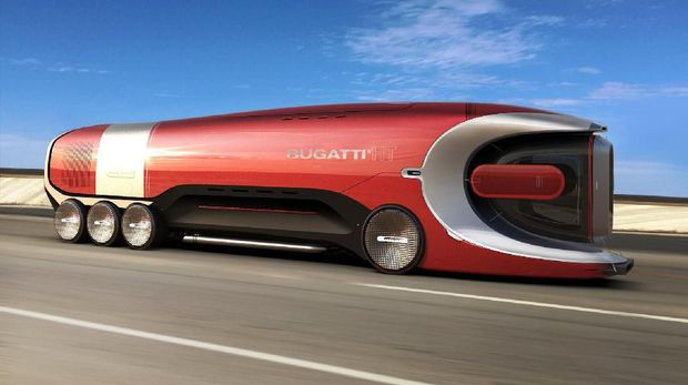Hyper Bus Bugatti di masa depan