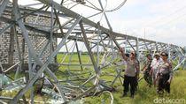 Polisi Selidiki Tower PLN Roboh-Bikin Listrik 3 Kabupaten di Jateng Mati