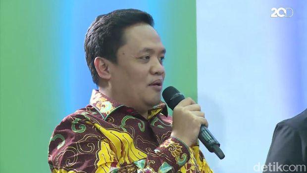 Foto: Screenshot d'rooftalk Juru Bicara Partai Gerindra Habiburokhman
