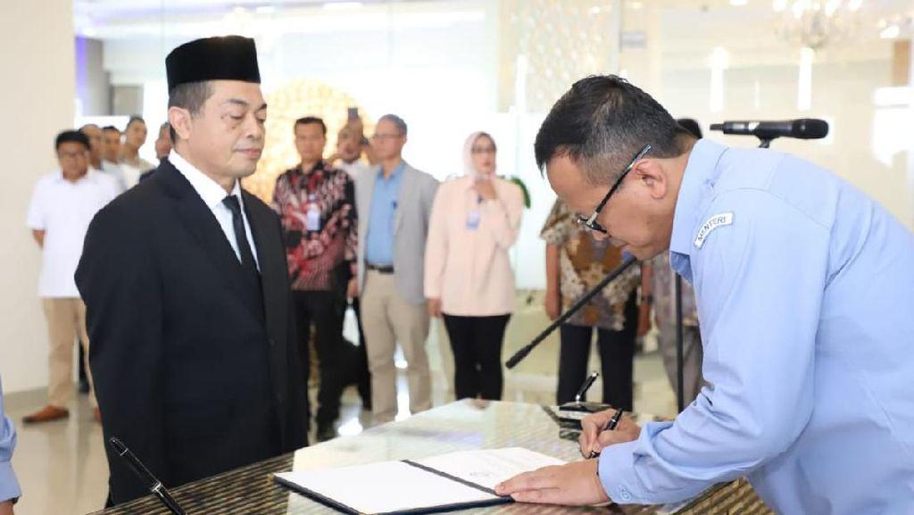 Lantik Pejabat Eselon I KKP, Edhy Prabowo: Kekompakan adalah Kunci