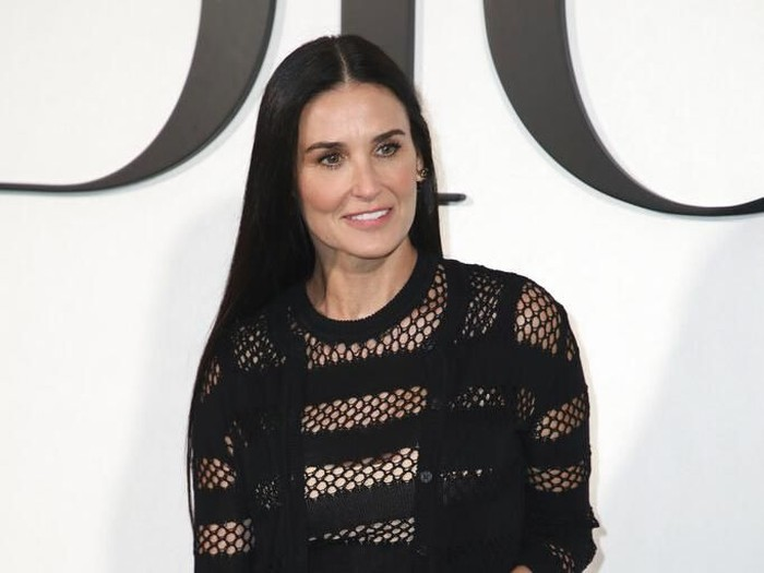 CORRECTS IDENTIFICATION Actress Demi Moore arrives for the Dior fashion collection during Womens fashion week Fall/Winter 2020/21 presented in Paris, Tuesday, Feb. 25, 2020. (Photo by Vianney Le Caer/Invision/AP)