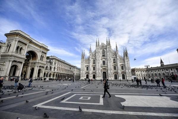 Peringkat ke-40 adalah Kota Milan di Italia. Foto: AP Photo