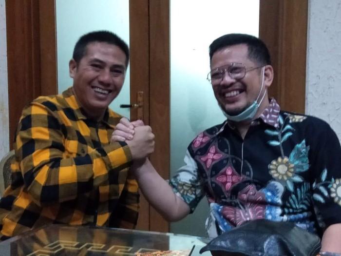 Bakal cawalkot Makassar Syamsu Rizal (Deng Ical) dan Irman Yasin Limpo (None) mengikuti fit and proper test Pilwalkot Makassar di DPP Hanura (dok. Istimewa)