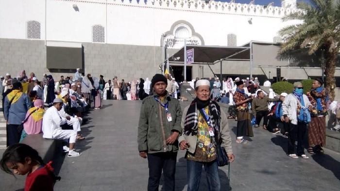 Jemaah umrah asal Indonesia di Madinah, Kamis (27/2/2020).