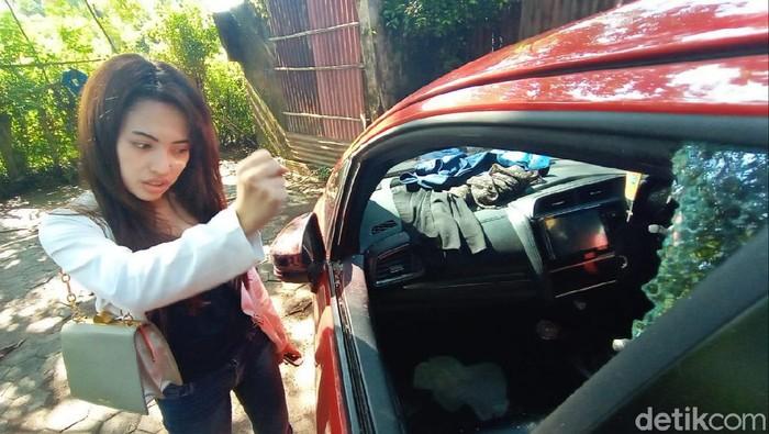 Korban pencurian modus pecah kaca mobil di Kulon Progo, Kamis (27/2/2020).