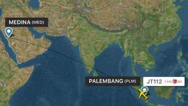 Penerbangan dari RI menuju Saudi.