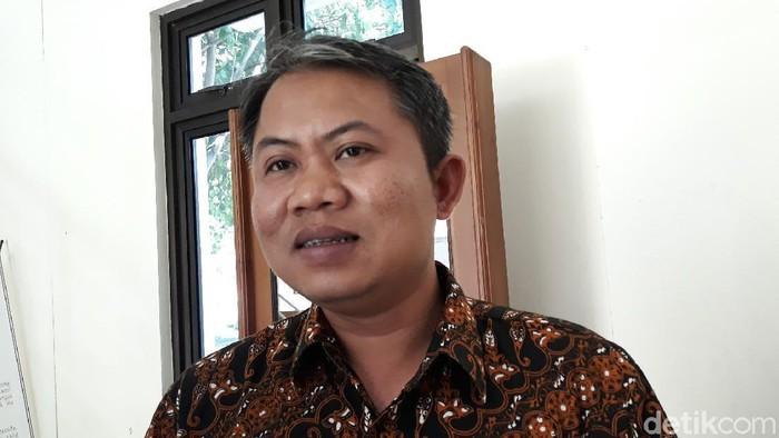 Ketua KPU Kabupaten Gunungkidul, Ahmadi Ruslan Hani, Kamis (27/2/2020).
