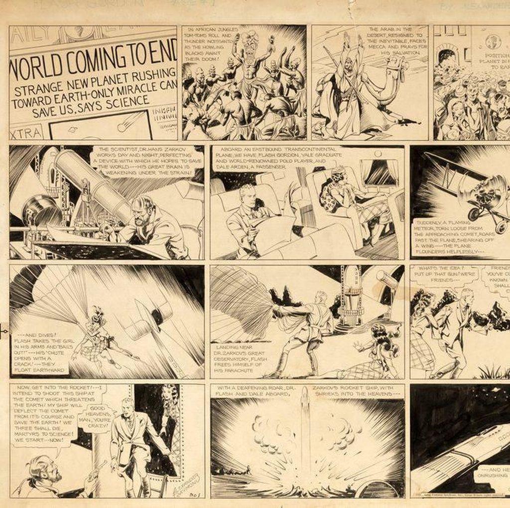 Terbit Januari 1934, Komik Strip Flash Gordon Kini Dilelang