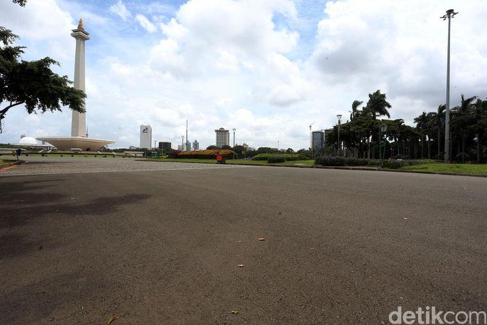 Kawasan Monas yang akan menjadi lokasi balapan Formula-E.