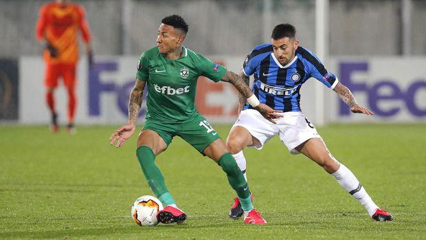 Ludogorets tertinggal 0-2 dalam agregat melawan Inter.