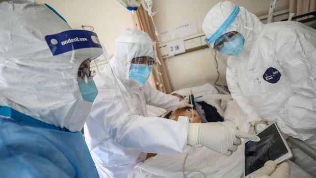 Ilustrasi penanganan virus corona.