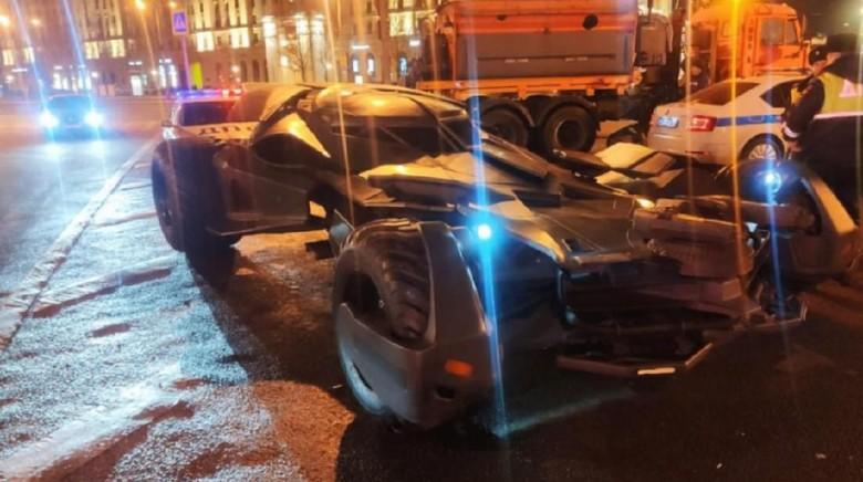 Mobil Batman ditilang polisi