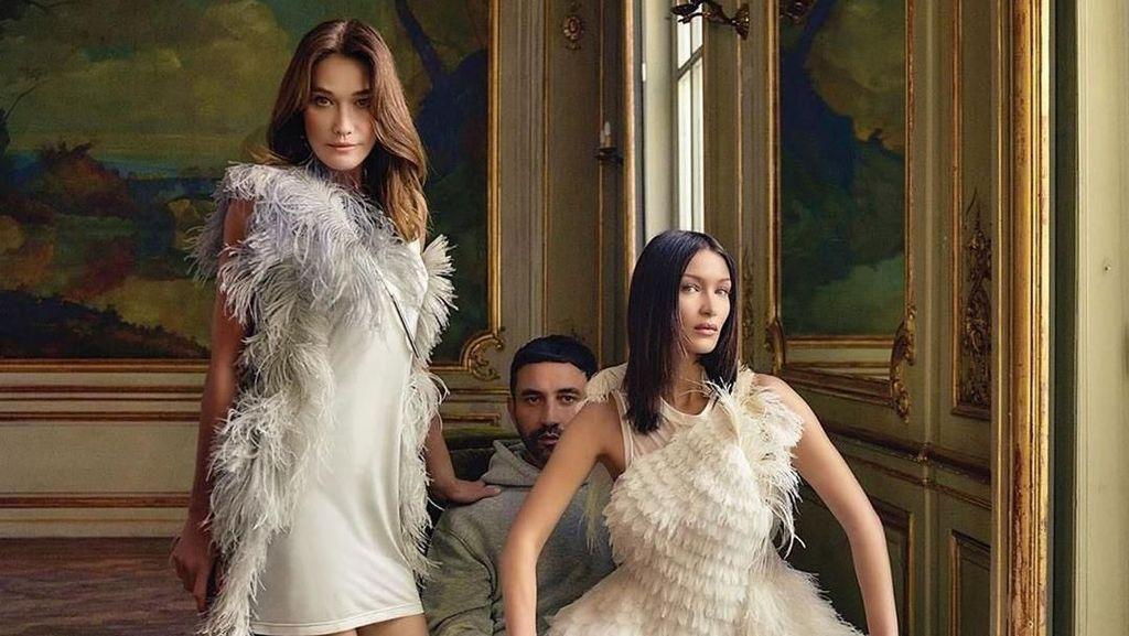 Disebut Kembaran, Bella Hadid dan Eks Ibu Negara Prancis Pose di Majalah