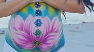 8 Potret Perut Hamil Wanita Jadi Kanvas Lukisan Cantik