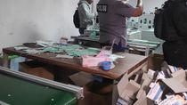 Polisi Buru Pemilik Pabrik Penimbun 30 Ribu Masker Ilegal