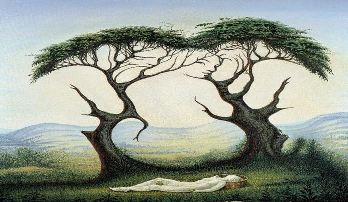 Tes Psikologi Gambar Wajah Atau Pohon Yang Pertama Kamu Lihat