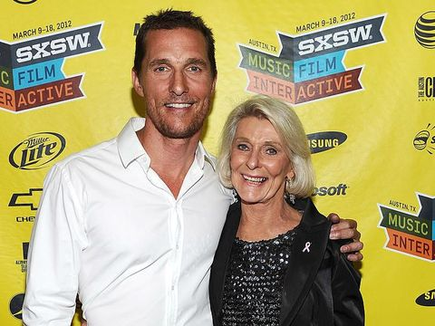 AUSTIN, TX - MARCH 14:  Actor Matthew McConaughey (L) and mother Kay McConaughey attend the world premiere of