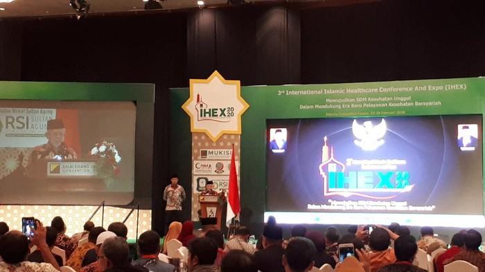 Maruf Amin di International Islamic Healthcare, Conference and Expo (IHEX) 2020