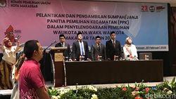 KPU Lantik 75 PPK Pilwalkot Makassar, Termuda Dara Berusia 25 Tahun