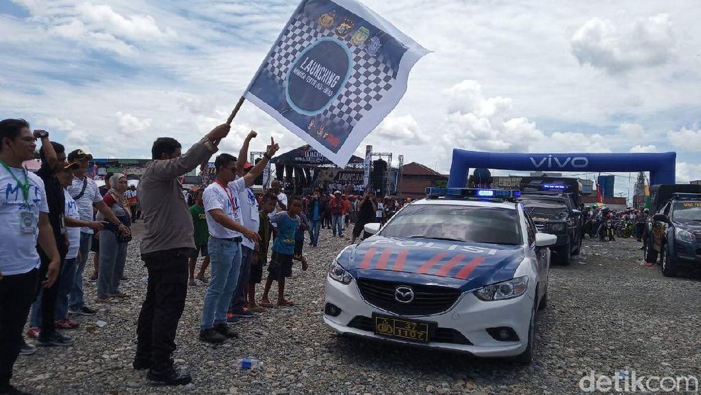 Duo Serigala Digandeng Polisi untuk Kampanye Tertib Lalu Lintas di Mimika