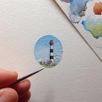 ilustrasi mini seukuran ujung kuku