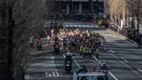 Sejumlah pelari dari berbagai negara di dunia ikut serta dalam Maraton Tokyo 2020 yang diselenggarakan di Tokyo, Jepang, Minggu (1/3/2020).