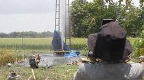 Bikin Kaget! Semburan Lumpur Ini Muncul di Grobogan