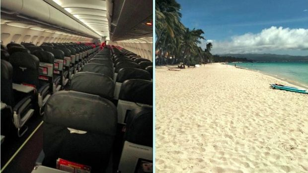 Kisah Turis Liburan di Tengah Corona: Pesawat Kosong & Pantai Sepi