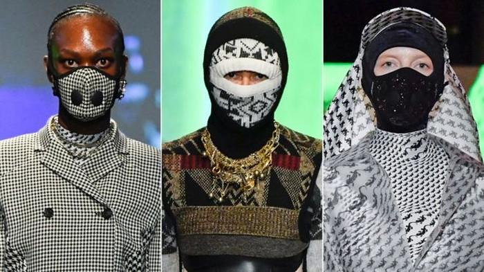 masker di Paris Fashion Week