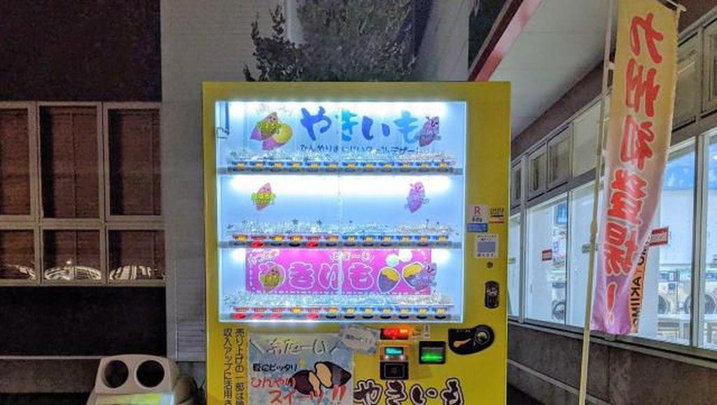 Kini Ubi Panggang Hangat Bisa Dibeli Lewat Vending Machine