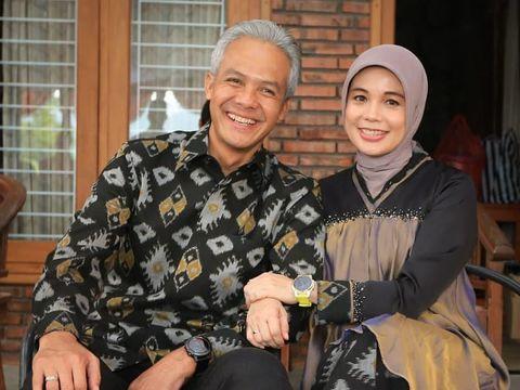 Ganjar Pranowo dan istrinya