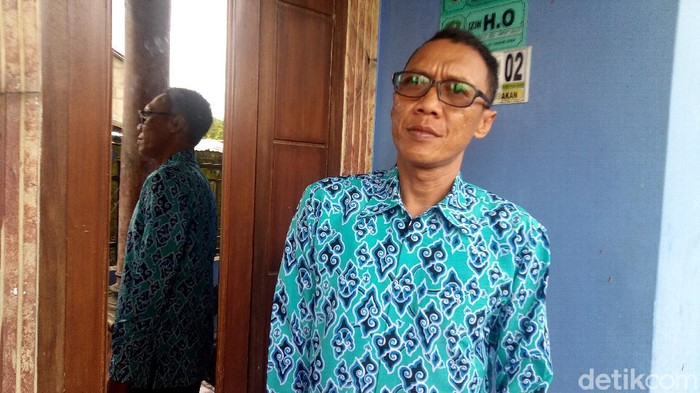 Mugio (40), calon jemaah asal Banjarnegara, Jawa Tengah, Senin (2/3/2020).