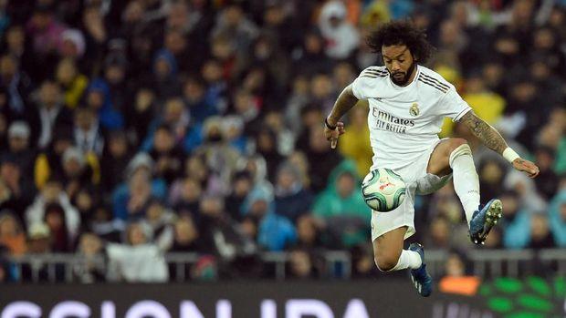 Marcelo berhasil mematikan Lionel Messi.