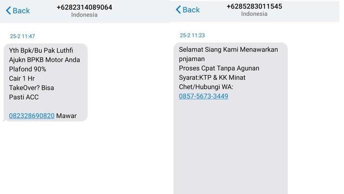 SMS penawaran penawaran kredit